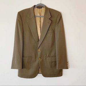 Burberrys Authentic Vintage Green Wool Blazer 42 L